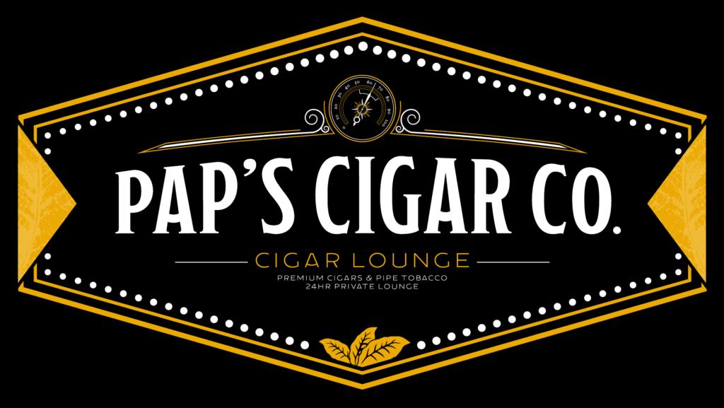 Pap's Cigar Co. Logo in Lynchburg.