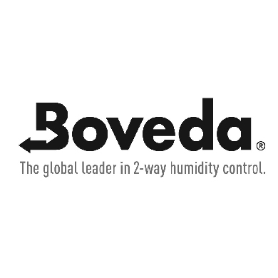 Bovedo humidity control logo at Pap's Cigar Co. in Lynchburg, Virginia
