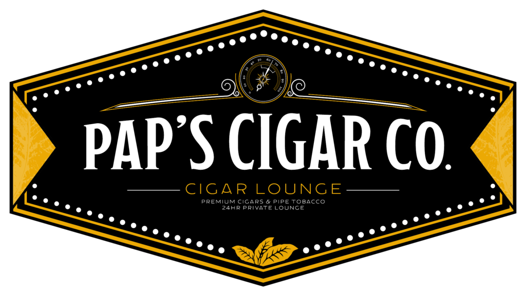 Pap's Cigar Co. Logo in Lynchburg.