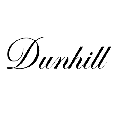 Dunhill pipe tobacco logo at Pap's Cigar Co. in Lynchburg, Virginia